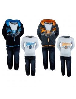 Set haine baieti: Bluza, Hanorac, Pantaloni 3 - 12 ani