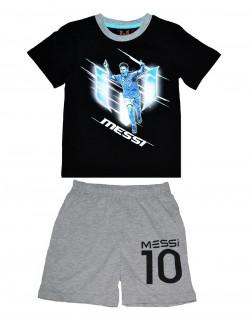 Pijama vara Leo Messi negru/gri 4-8 ani