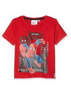 Tricou Spiderman baieti 3-8 ani, rosu