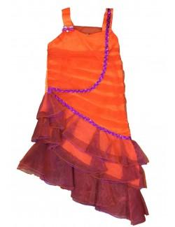 Rochie Rumba copii 5-8 ani corai