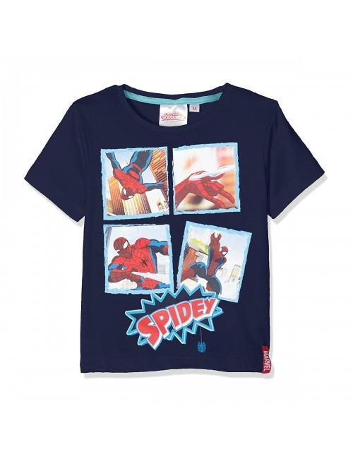 Tricou Spiderman 3-8 ani bleumarin