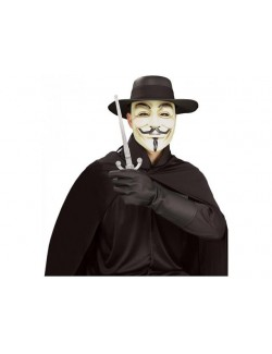 Costum V for Vendetta adulti - Set Rubies