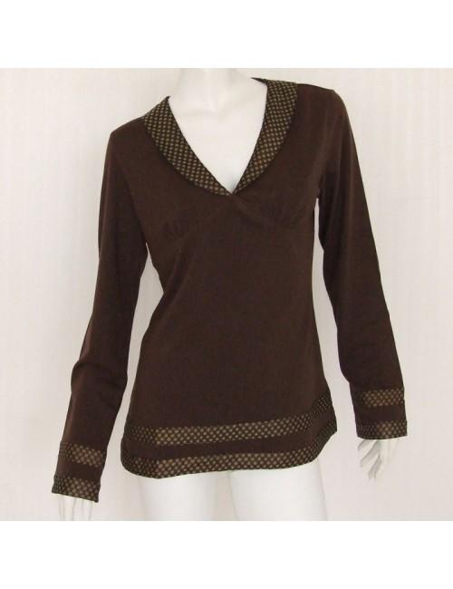 Bluza cu guler sal pentru femei marimi S-XL