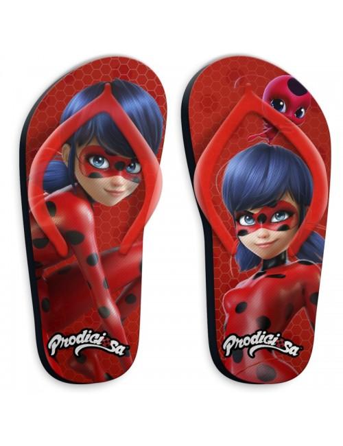 Papuci plaja flip-flops Miraculos Buburuza 27-34