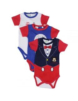 Set 3 Body Mickey Mouse bebelusi 6 - 24 luni