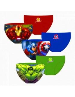Slip baie copii 4-8 ani Avengers: Captain America, Iron Man, Hulk