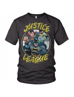 Tricou barbati Justice League S - XXL, gri
