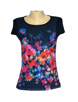 Bluza femei, cu Trandafiri rosii, S - XXL