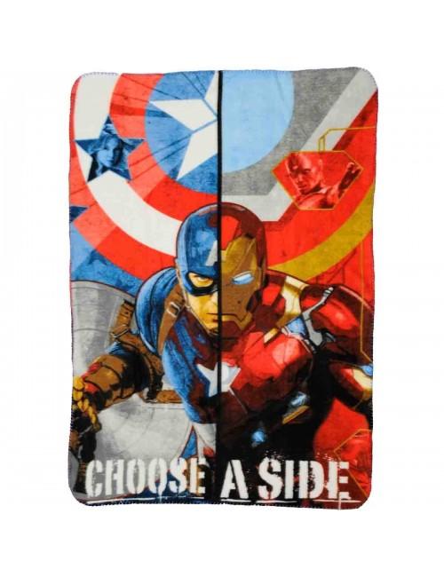 Patura polar Captain America - Iron Man 140 x 100