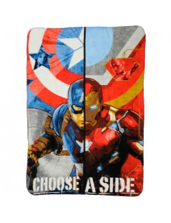 Patura polar Captain America - Iron Man 140 x 100