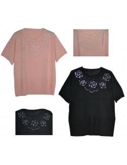 Bluze tricotate, cu pietricele, pentru femei