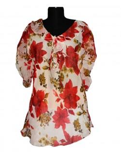 Bluza din voal cu model floral femei, 42