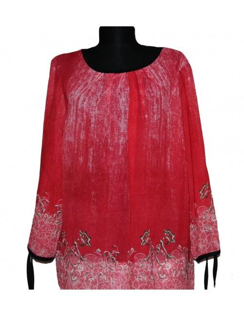 Bluza rosie din voal  pentru femei, L