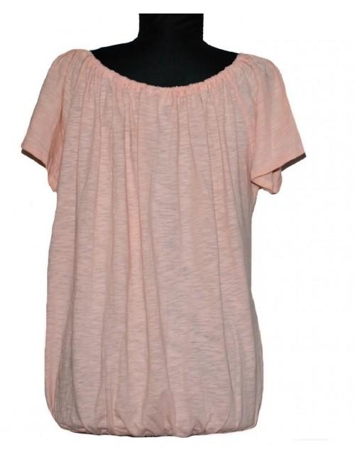 Bluza roz-somon cu dantela pentru femei, S