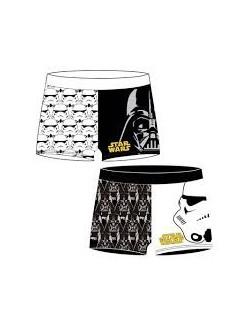 Slip Star Wars baieti 4 - 8 ani, alb/negru, Arditex