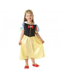 Costum Alba ca Zapada cu accesorii, copii 3 -8 ani