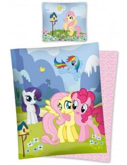 Lenjerie pat My Little Pony - Micii Ponei 160 x 200 cm