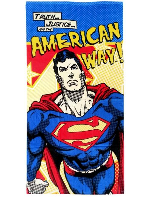 Prosop baie Superman American way 70x140 cm
