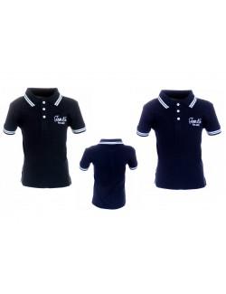 Tricou polo baieti 6 - 14 ani negru - bleumarin