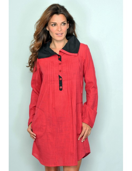 Rochie mini / Bluza tunica M - XL rosie