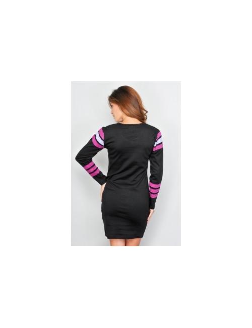 Rochie neagra cu maneca lunga femei S - XL