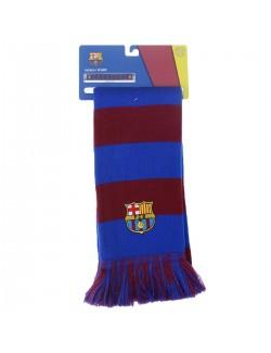 Fular tricotat FC Barcelona 17 x 154 cm