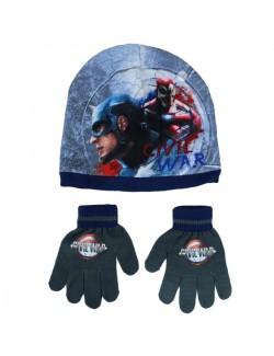 Set iarna Caciula si manusi Captain America