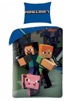 Lenjerie pat Minecraft 140 x 200 cm
