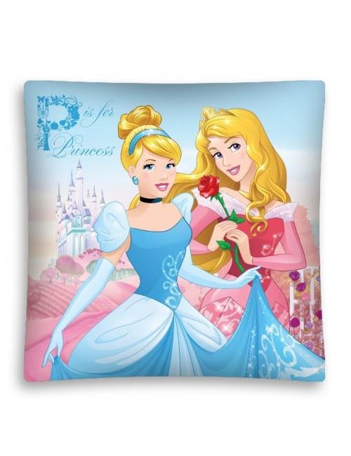 Fata de perna 40 x 40 cm Printesele Disney: Cenusareasa si Aurora