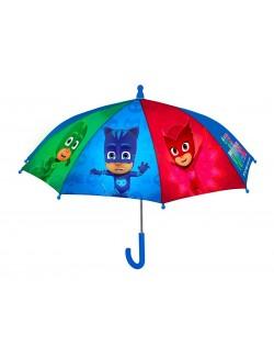 Umbrela manuala PJ Masks - Eroii in pijamale 40 cm