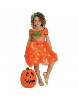Rochie Halloween Printesa Dovlecel cu lumini 3-7 ani