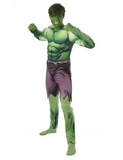 Costum Hulk Deluxe cu muschi adulti