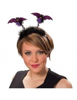 Bentita Halloween cu lilieci mov Rubies