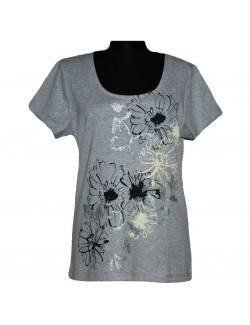 Tricou femei Papaya Clasic cu flori 14 - 16