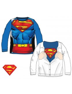 Bluza Superman copii, maneca lunga