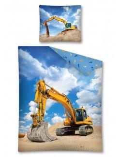 Lenjerie pat Excavator 160 x 200 cm