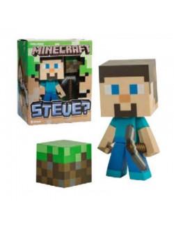 Figurina Minecraft - Steve cu tarnacop, 15 cm, vinil