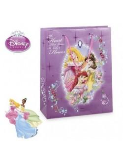 Punga cadou Printesele Disney mov -32 x 26 cm