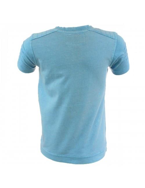 Tricou bleu Lee Cooper guler V copii 6 - 14  ani