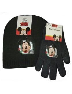 Set caciula si manusi Mickey Mouse copii 3-6 ani