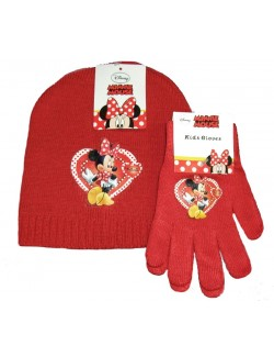 Set caciulita si manusi Minnie Mouse 3-5 ani