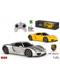Masina Porsche 918 Spyder cu telecomanda, scara 1:24