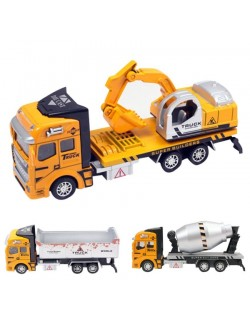 Jucarii metal: Betoniera, Basculanta si Camion cu Excavator