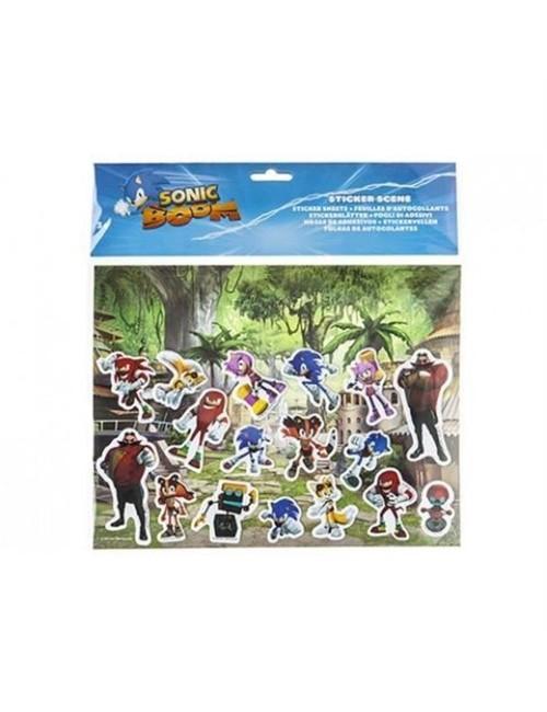 Set autocolante cu plansa Ariciul Sonic