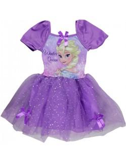 Rochie tutu copii, Elsa Disney Frozen, mov