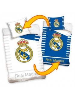 Lenjerie pat Real Madrid reversibila, 160 x 200 cm