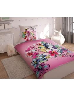 Lenjerie pat Micii Ponei - My Little Pony 160 x 200 cm