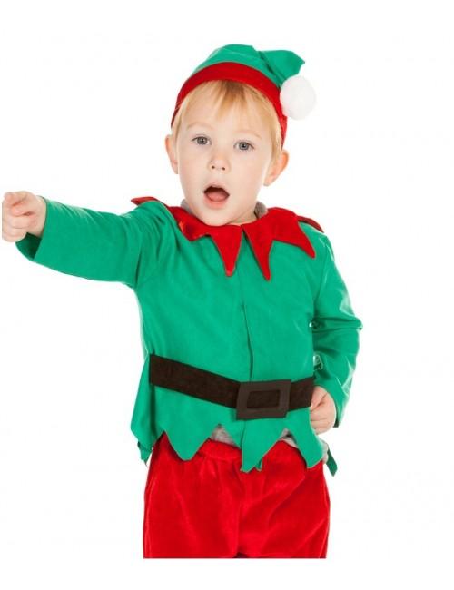 Costum Elf / Spiridus copii 18 luni - 5 ani