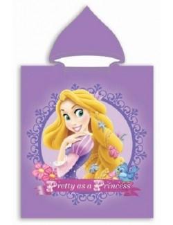 Prosop poncho copii, Rapunzel Printese Disney, 50 x 115 cm