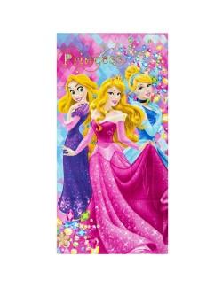 Prosop plaja Printese Disney: Aurora, Rapunzel, Cenusareasa 70 x 140 cm